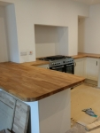 Fitting a kitchen with oak worktops